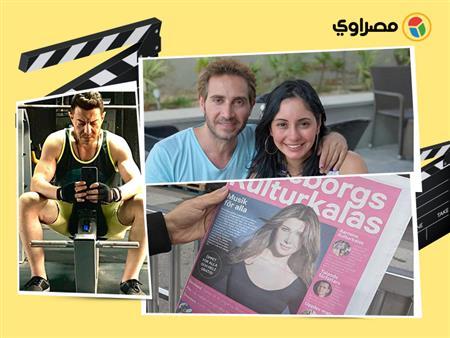 """حمدي الميرغني مع """"الراس الكبيرة"""" ونسمة عبدالعزيز رفقة زوجها.. 10 لقطات للنجوم في 24 ساعة"""