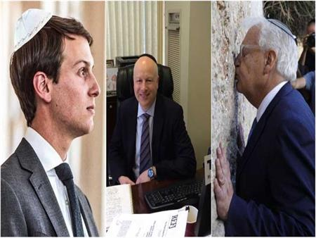"""نام نتنياهو في فراش أحدهم.. رجال أمريكا لـ""""صفقة القرن"""" يهود متشددون"""
