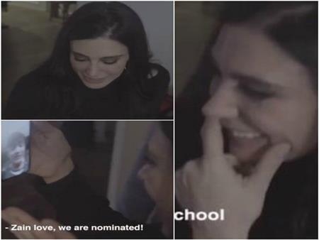 بالفيديو| نادين لبكي في لحظة مؤثرة بعد ترشحها للأوسكار