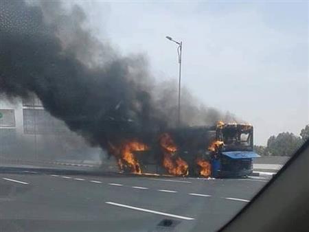"""""""كنت هموت"""".. سائق أتوبيس النقل العام المحترق يروي تفاصيل الواقعة"""