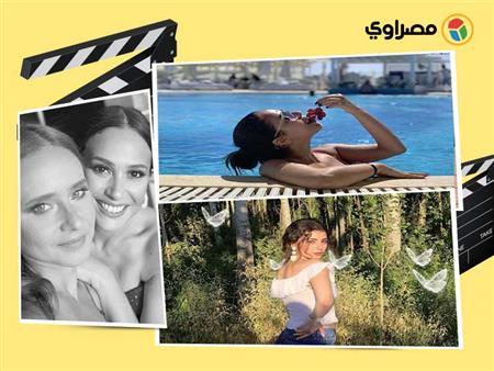 نانسي عجرم تحمل ابنتها ورنا سماحة في حمام السباحة.. 10 لقطات لنجوم الفن في 24 ساعة