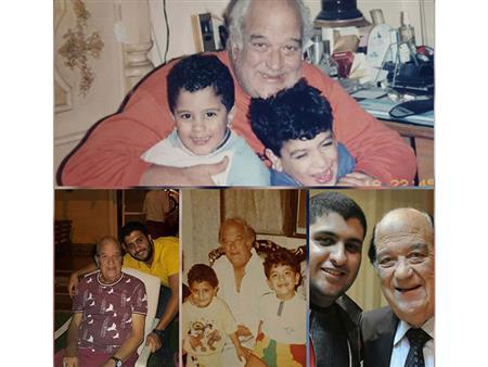 بكلمات مؤثرة.. حفيد حسن حسني يتحدث عنه وينشر صورًا من ذكرياتهما