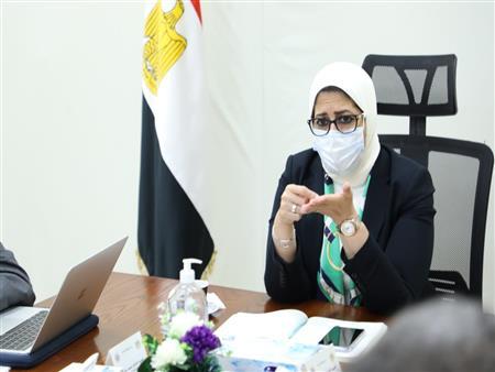"""وزيرة الصحة تُراجع مع مديري مستشفيات الحميات خطة مواجهة """"كورونا"""""""