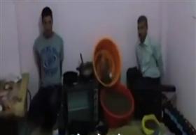 لحظة القبض على اول مصرى يحاول تصنيع الحشيش
