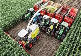 أكبر آلة لحصد محاصيل الذرة فى أقل وقت