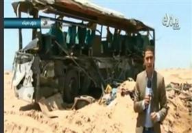 انفعال مراسل سي بي سي إكسترا على الهواء من موقع تصادم اتوبيسي شرم الشيخ