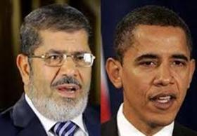 تفاصيل المكالمة الاول بين مرسى واوباما عبر موبيل الثريا من داخل القصر