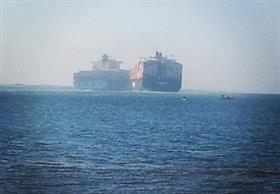 اصطدام سفينة حربية روسية وسفينة شحن قبالة سواحل اسطنبول
