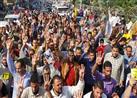 بالصور – عناصر منتمية للإخوان تطلق الألعاب النارية في مسيرة بالقائد إبراهيم