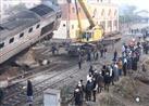 10 صور ترصد عمليات رفع أثار حادث انقلاب قطار بني سويف