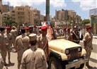 بالصور- جنازة عسكرية لشهيد سيناء أمام المنطقة الشمالية بالإسكندرية