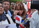 وزراء وشخصيات عامة في مسيرة للتضامن مع ضحايا الطائرة المنكوبة