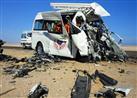 مصرع وإصابة 5 أشخاص من أسرة واحدة إثر انقلاب سيارة بشمال سيناء