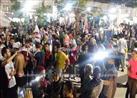 تجمع العشرات بمحيط نادي الزمالك احتفالا بالصعود لنهائي دوري الأبطال