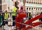 بالصور: مظلات المسجد النبوي تعود للعمل مجدداً بعد إصلاحها