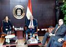 وزيرا التجارة والاستثمار ومحافظ سوهاج يضعون حجر أساس مصنع جديد للأسمنت