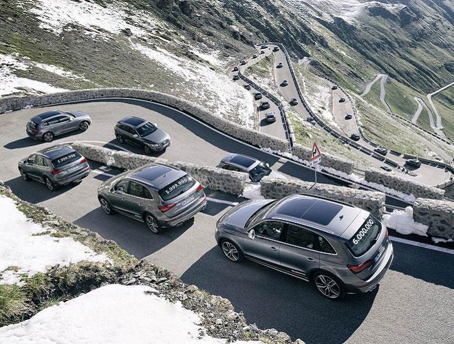 سيارات أودي المزودة بنظام الدفع الرباعي الدائم quattro تحتفل بأنتاج ستة ملايين سيارة