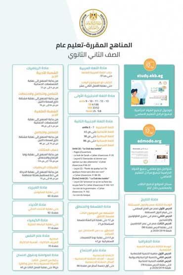 التعليم تنشر جميع مناهج الترم الثاني من 3 ابتدائي إلى 3 ثانوي حتى 15 مارس (إنفوجرافيك) 9 31/3/2020 - 2:39 ص