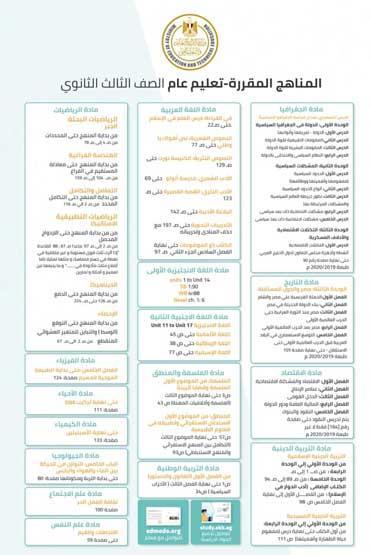 التعليم تنشر جميع مناهج الترم الثاني من 3 ابتدائي إلى 3 ثانوي حتى 15 مارس (إنفوجرافيك) 10 31/3/2020 - 2:39 ص