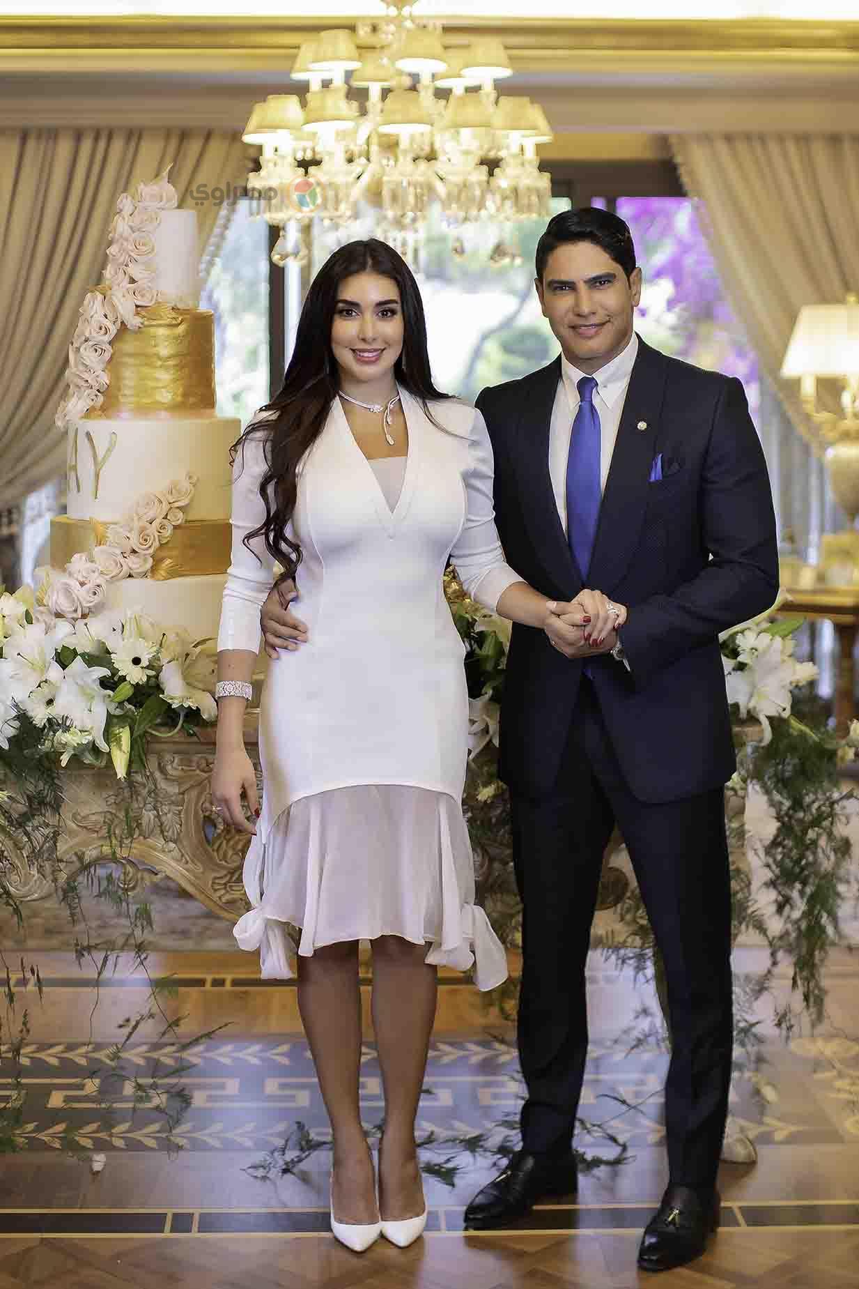 صور جديدة من عقد قرآن أبوهشيمة على ياسمين صبري .. وإطلالة رائعة بالفستان الأبيض 3