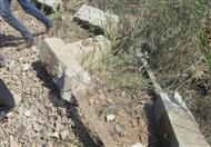 12 صورة توضح تأثير انفجار قنبلة بلبيس على قضبان السكك الحديدية