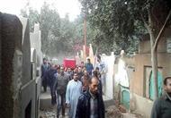 بالصور.. أهالي الشرقية يشيعون جثمان ضابط الطائرة العسكرية