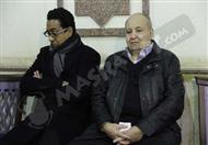 بالصور- وحيد حامد والقعيد والمعلم في عزاء زوجة نجيب محفوظ