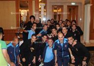 لاعبو الأهلي يحتفلون بعيد ميلاد إيفونا في معسكر دبي