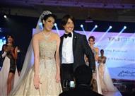 بالصور- حورية فرغلي بفستان زفاف مذهل من تصميم هاني البحيري