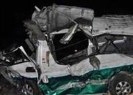 إصابة 6 في تصادم أتوبيس وسيارة نقل بطريق عيون موسى