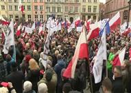 مظاهرات حاشدة في بولندا احتجاجًا على سياسة الحكومة