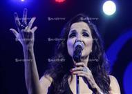"""بالصور.. """"تانيا صالح"""" تشعل المسرح اليوناني وتغني لمصر"""