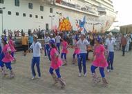 """على أنغام """"السمسمية"""".. بورسعيد تستقبل أكبر سفينة سياحية بالعالم (صور)"""