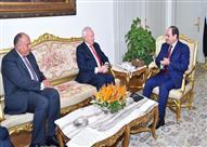 السيسي يبحث مع وزير الخارجية الإسباني الأزمتان السورية والليبية وتنامي