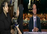 عمرو أديب يبكي على الهواء تأثرًا بحديث زوجة العميد رجائي - فيديو