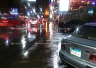 """بالصور - أمطار غزيرة على الإسكندرية مع بدء نوة """"رياح الصليب"""""""