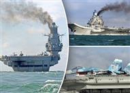 """بالصور: 17 سفينة حربية روسية في المتوسط.. """"قوة ضاربة تتحدى الناتو"""" - تقرير"""