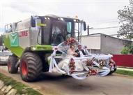 بالصور.. أحدهم تركها متسخة.. أغرب سيارات الزفاف حول العالم