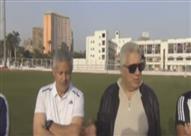 جلسة مرتضى منصور مع الجهاز الفني واللاعبين بحضور محمد حلمي