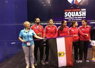 مصر تتوج ببطولة العالم للإسكواش لفرق السيدات بباريس بعد تغلبها على