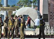 بالصور - نقل رماد الزعيم الكوبي كاسترو لمثواه الأخير