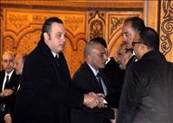 أبرزهم محلب ونجلي مبارك وراتب.. 100 صورة من داخل عزاء زوجة محمد صبحي