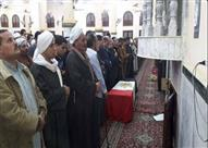 بالصور.. الآلاف في بنها يشيعون جثمان أحد شهداء انفجار الهرم