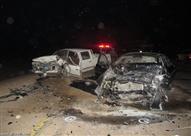 مصرع مواطن وإصابة 3 آخرين في حادث تصادم بصحراوي المنيا