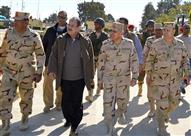 وزيرا الدفاع والداخلية يتفقدان قوات إنفاذ القانون بشمال سيناء