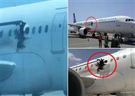 بالفيديو.. اختلال الضغط على متنها يقذف براكب من طائرة