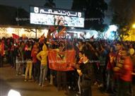 بالصور- جماهير الأهلي تحتفل بالفوز بمباراة القمة