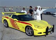 """لمكافحة الحرائق.. دبي تستخدم """"شيفرولية كورفيت"""" الفارهة"""