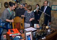 """10 صور لمقتنيات نور الشريف في افتتاح معرضه الجديد في """"بيت السناري"""""""