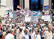 """تنسيقية """"تضامن"""" تُنظم وقفة احتجاجية على سلالم نقابة الصحفيين في يوم العمال"""